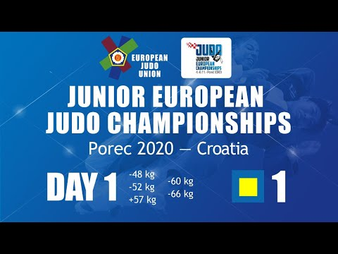 Day 1 - Tatami 1: Judo Junior European Championships Porec 2020