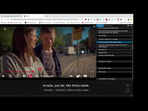 Learning Languages with Netflix: Chrome Extension (Demo video)