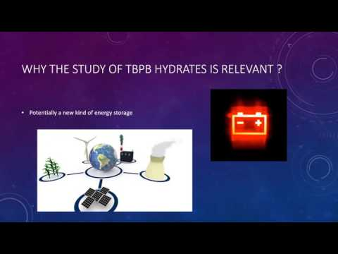 Study of the kinetics of TBPB hydrates