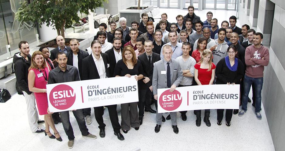 Lesélèves ingénieurs en apprentissage à l'ESILV pour l'année 2013-2014