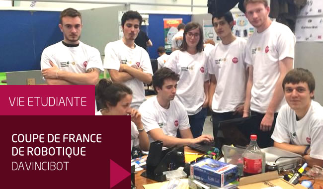 Davincibot les l ves ing nieurs esilv la coupe de france de robotique 2014 ecole d - Coupe de france robotique ...