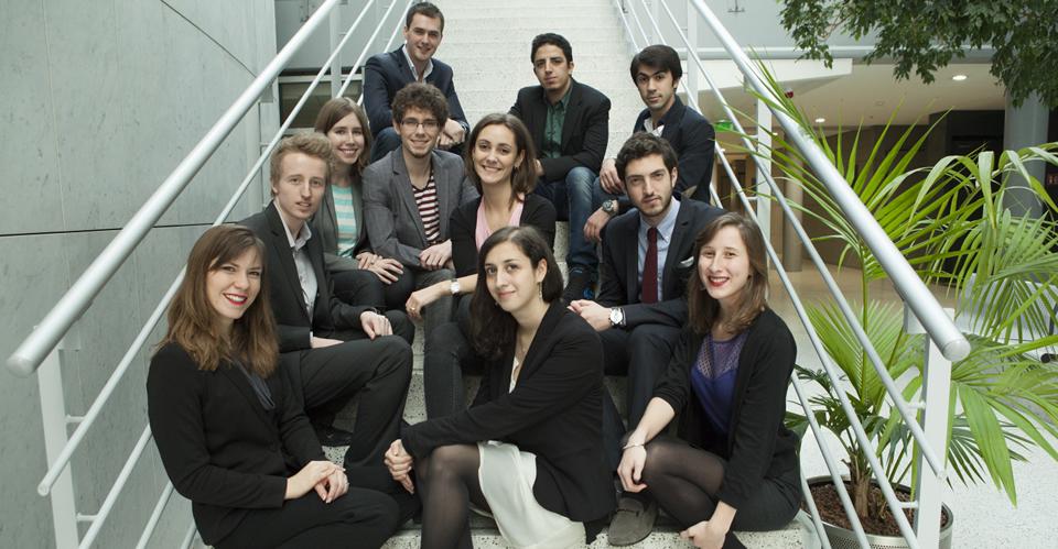 Les porteurs de projets de la promo 2013-2014 de lamajeure entreprendre, un programme transversal des écoles Léonard de Vinci (ESILV, IIM, EMLV)