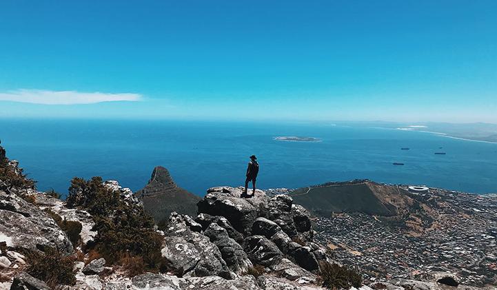 La vue depuis Table Mountain, à Capetown