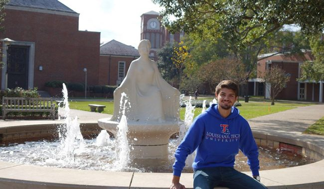 Guillaume, en échange à Louisiana Tech University