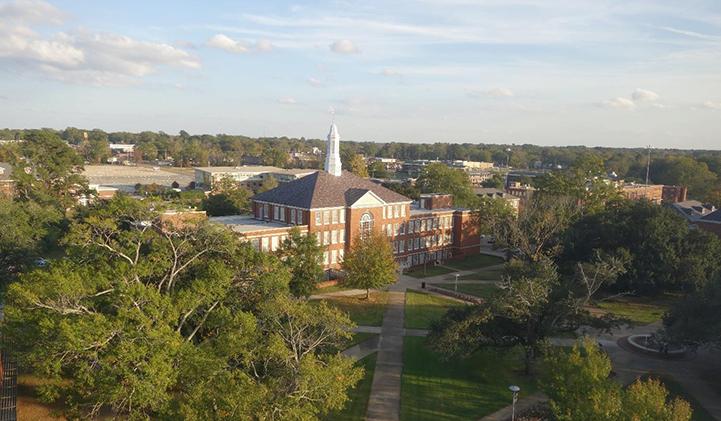Le campus de Louisiana Tech University, à Ruston, dans le nord de l'Etat