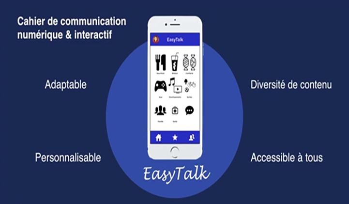 EasyTalk, cahier de communication interactif numérique, Prix Étudiants de la Fondation Sopra Steria
