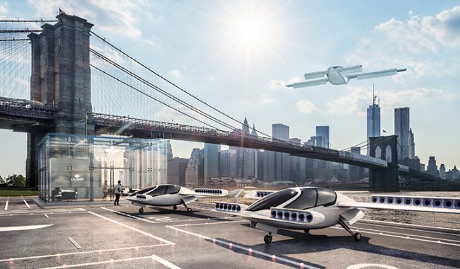 Flying car drone taxi urban mobility