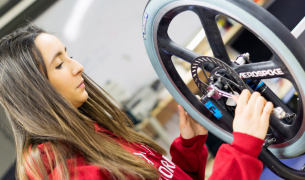 International ESiLV student ixing wheel_Women in Engineering Day