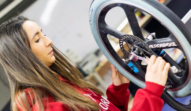 International ESiLV student ixing wheel_Women in Engineering Day