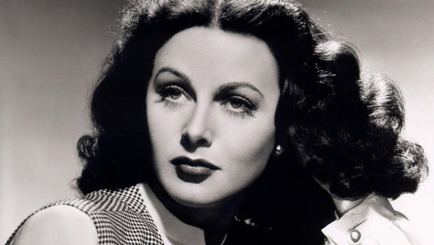 hedy lamarr black and white photograph