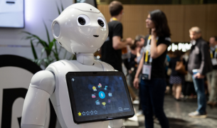 smart robot with touch screen