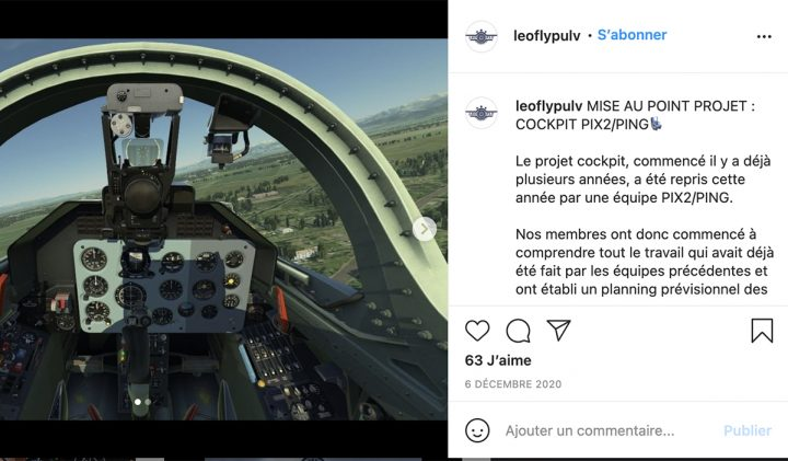 Leofly réalise un projet de simulation d'un cockpit