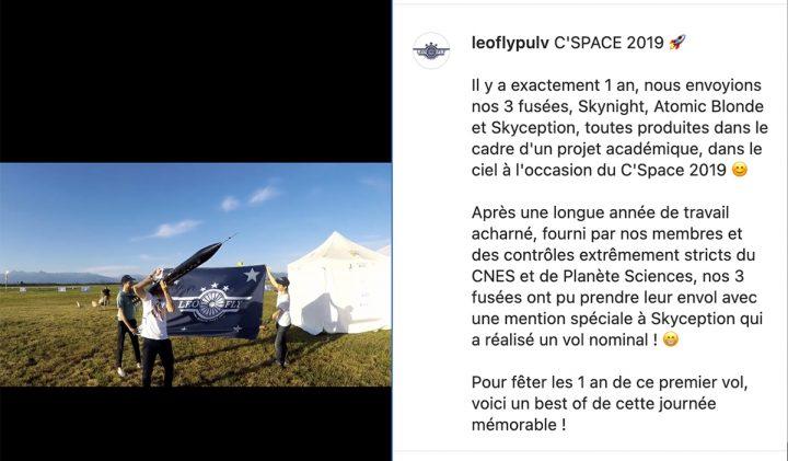 LeoFly participe à la compétition C'Space dans le cadre des projets ingénieurs