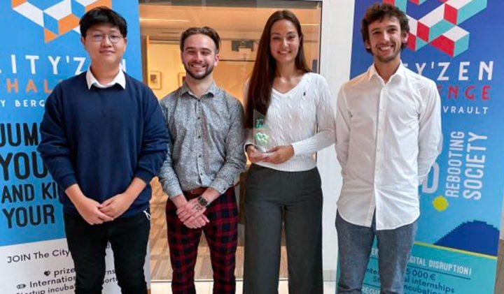 L'équipe ESILV gagnante de la 3e place au Cityzen Challenge